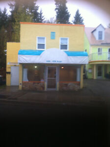 Commercial space Downtown Castlegar,  3 bdr apt upstairs!