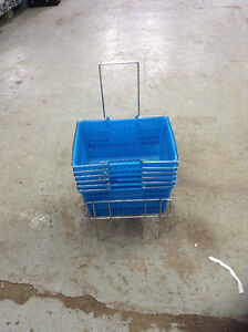 6 Shopping Baskets and Metal stand