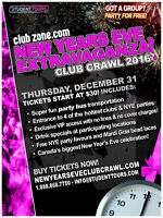 2016 New Year's Eve Club Crawl JOBS in Victoria. Now Hiring!
