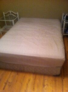 double mattress and box for sale