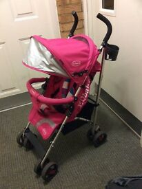 EQ baby pushchair with rain cover and foot muff, only bought a few months ago, nearly new