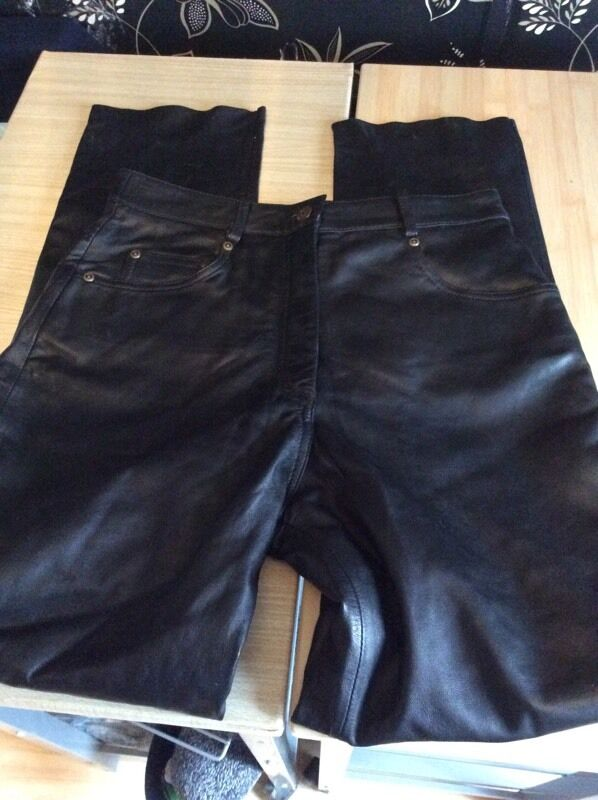 Real leather original jeans size 12