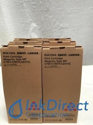 Genuine Ricoh 841359 Mp C6501 C7501 Print Cartridge Magenta Lot Of 6 Mp C650