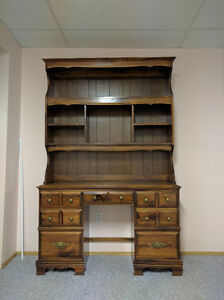 Solid Wood Desk with Removable Hutch Edmonton Edmonton Area image 1