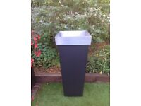 Huge zinc galvanised planter 1m 16cm tall