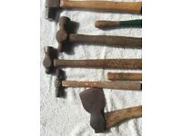 Box of 8 various hammers