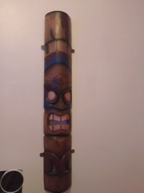 wooden hanging mask decor for wall