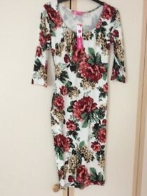 Floral dress size small new
