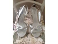 Ladies Next silver Sandals Size 6.5