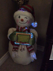 PERSONALIZED FIBRE OPTIC SNOWMAN GREETER! St. John's Newfoundland image 2