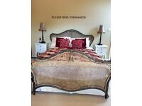 King size Bed. Beautiful Harrods Rattan and Iron King Size Bed Frame. Ring me please: 07956 846259