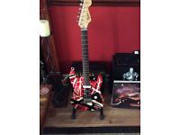 EVH style Squier strat fender with Marshall 45w amp