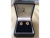 Clogau Welsh 9 crt gold Daffodil Stud Earings