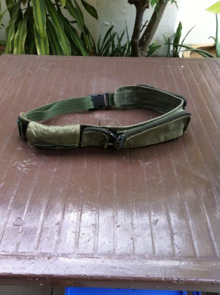 Green waist pouch 4 compartments.
