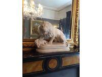 Rare huge antique vintage Victorian lion