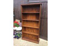 Huge dark wood bookcase