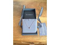 Beaverbrooks Rose Gold Triangle necklace