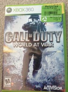 Xbox 360 call of duty world at war game
