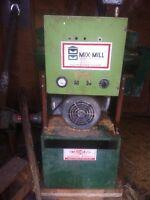 Hammer mill setup