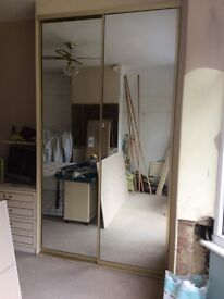 Mirror glass doors