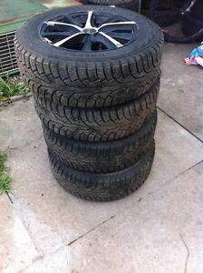 Set of 4 winter tires 195 65 15 with aluminum rims