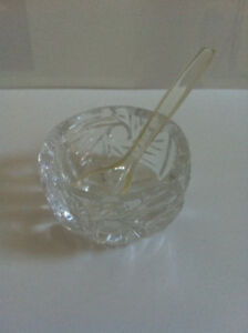 Miniature Glass Garnish Dish