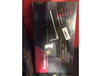 Snap on long ratchet and screwdriver set new