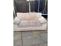 Two seater sofa bed beige