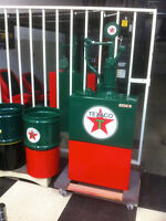 Texaco Lubester with matching trash can set--just painted--nice-