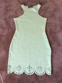 Turquoise neoprene style dress