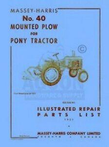 MASSEY-HARRIS-Pony-40-Mounted-Plow-Parts-List-Manual