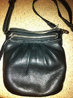 Roots Black Prince Leather Purse - Cross Body