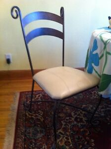 Set of four dining chairs w/ leather seats