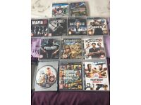 PlayStation 3 with FIFA 17 and various other games.