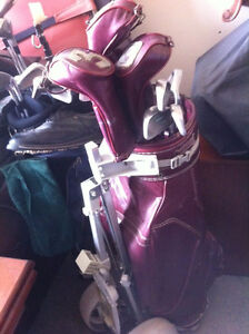 Mens left handed clubs $100; Ladies right handed clubs $100