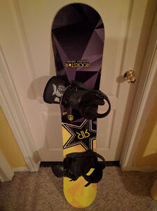 New snowboard and used  bindings. Bindings were 300$ new