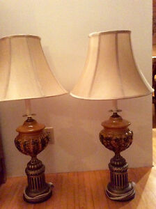2 Ornamental Table Lamps