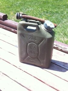 Old military gas tank