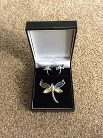 Dragon Fly Jewellery - Boxed Necklace & Earring Set