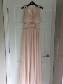 Blush pink evening dress