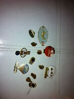 Lot of 13 vintage lions club lapel pins