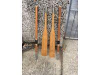 2 piece rowing oars