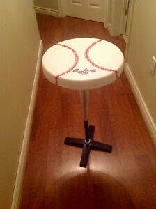 Recycled Baseball Bat Side Tables