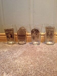 Original Mother's Pizza Coca Cola glasses (4)