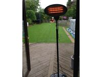 Freestanding patio heater, three heat setting 2kw (two available)
