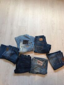 Bootcut jeans, size 12, river island, g star, Tommy Hilfiger, Replay, Lee