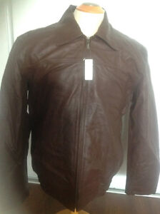 XL brown leather shirt full sleeves with tag