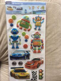 Brand New 3D Sticker Set