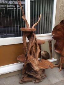 Solid wood display tree