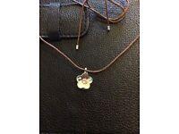 Swarovski flower pendant swarowski chain